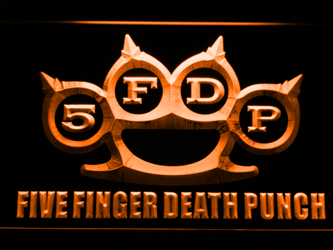 Five Finger Death Punch LED Neon Sign - Orange - SafeSpecial