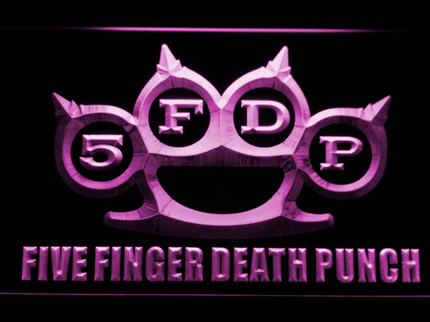 Five Finger Death Punch LED Neon Sign - Purple - SafeSpecial