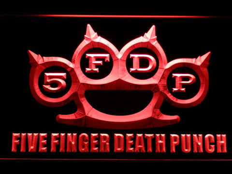 Image of Five Finger Death Punch LED Neon Sign - Red - SafeSpecial