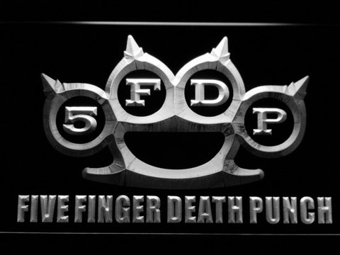 Image of Five Finger Death Punch LED Neon Sign - White - SafeSpecial