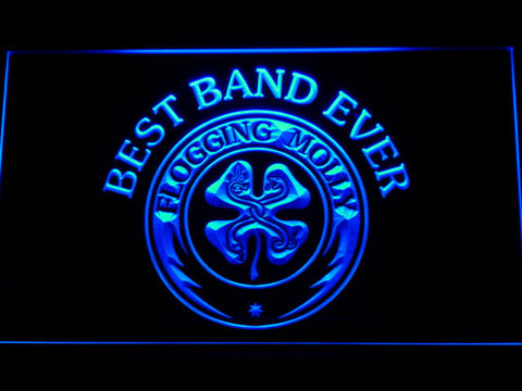 Flogging Molly Best Band Ever LED Neon Sign - Blue - SafeSpecial