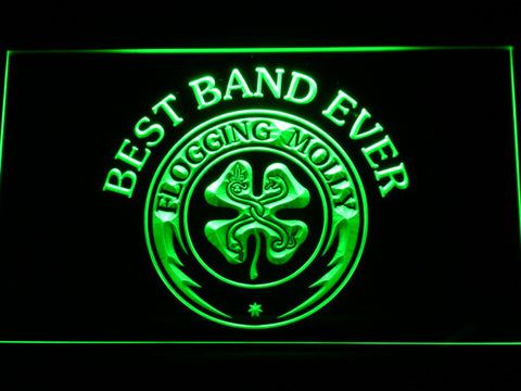 Flogging Molly Best Band Ever LED Neon Sign - Green - SafeSpecial