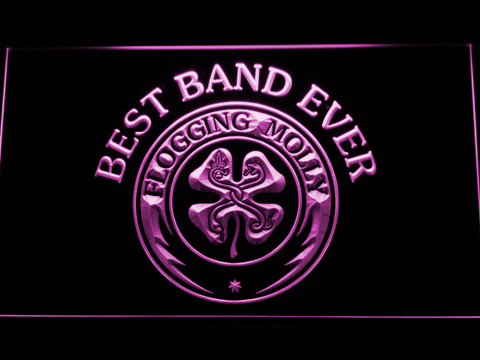Flogging Molly Best Band Ever LED Neon Sign - Purple - SafeSpecial