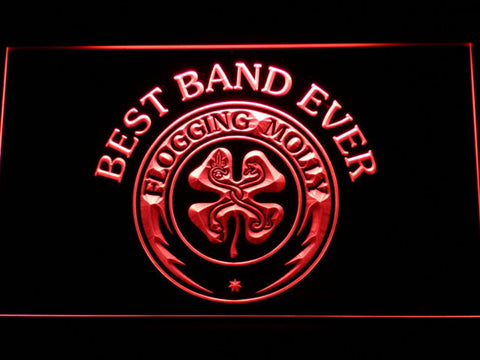Flogging Molly Best Band Ever LED Neon Sign - Red - SafeSpecial