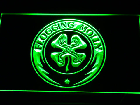 Flogging Molly LED Neon Sign - Green - SafeSpecial