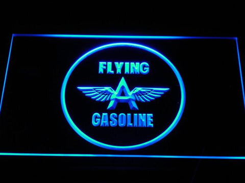Image of Flying A Gasoline LED Neon Sign - Blue - SafeSpecial