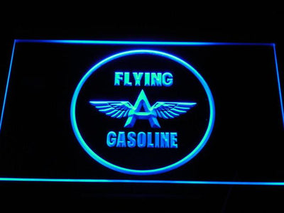 Flying A Gasoline LED Neon Sign - Blue - SafeSpecial