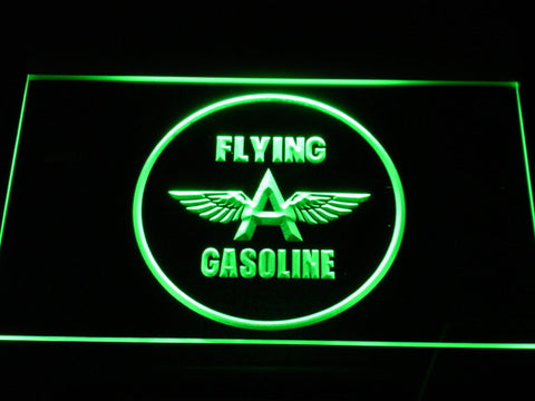 Image of Flying A Gasoline LED Neon Sign - Green - SafeSpecial