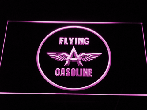 Flying A Gasoline LED Neon Sign - Purple - SafeSpecial