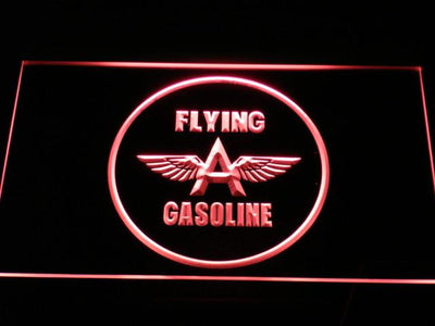 Flying A Gasoline LED Neon Sign - Red - SafeSpecial