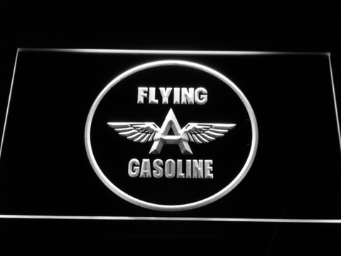 Flying A Gasoline LED Neon Sign - White - SafeSpecial
