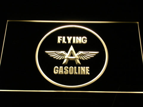 Image of Flying A Gasoline LED Neon Sign - Yellow - SafeSpecial