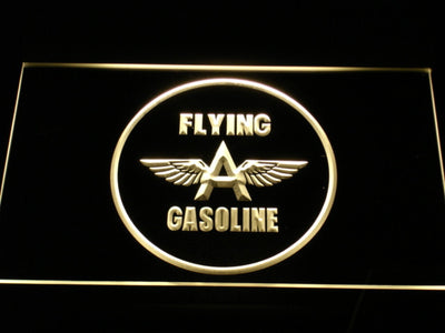 Flying A Gasoline LED Neon Sign - Yellow - SafeSpecial