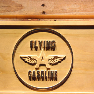 Flying A Gasoline Wooden Sign - - SafeSpecial