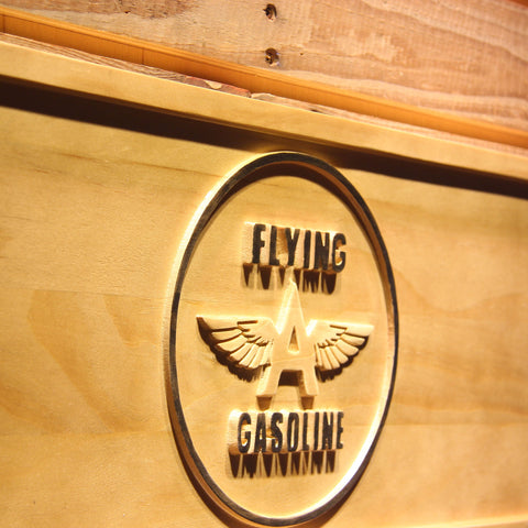 Image of Flying A Gasoline Wooden Sign - - SafeSpecial