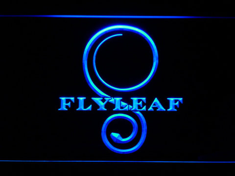 Flyleaf Memento Mori LED Neon Sign - Blue - SafeSpecial