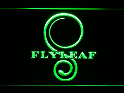 Flyleaf Memento Mori LED Neon Sign - Green - SafeSpecial