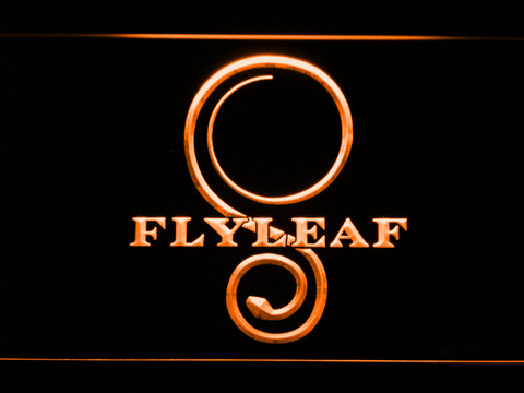 Flyleaf Memento Mori LED Neon Sign - Orange - SafeSpecial