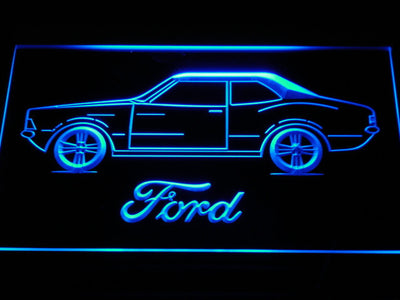 Ford Classic LED Neon Sign - Blue - SafeSpecial