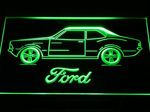 Image of Ford Classic LED Neon Sign - Green - SafeSpecial