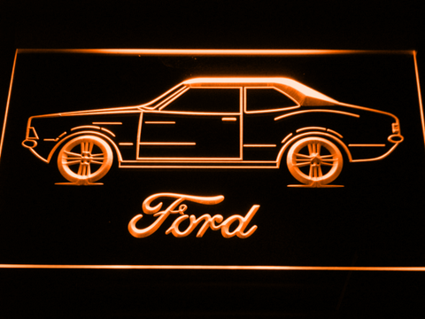 Image of Ford Classic LED Neon Sign - Orange - SafeSpecial