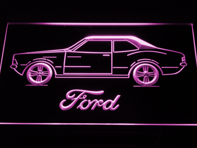 Ford Classic LED Neon Sign - Purple - SafeSpecial