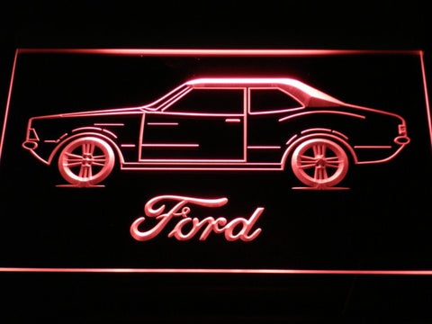 Image of Ford Classic LED Neon Sign - Red - SafeSpecial
