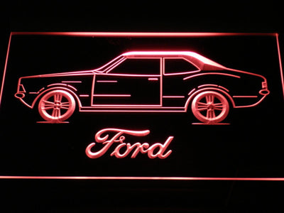 Ford Classic LED Neon Sign - Red - SafeSpecial