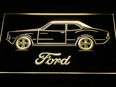 Image of Ford Classic LED Neon Sign - Yellow - SafeSpecial
