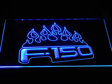Image of Ford f150 F-150 Flames LED Neon Sign - Blue - SafeSpecial