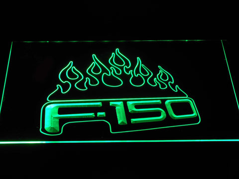 Image of Ford f150 F-150 Flames LED Neon Sign - Green - SafeSpecial