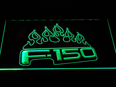 Ford f150 F-150 Flames LED Neon Sign - Green - SafeSpecial