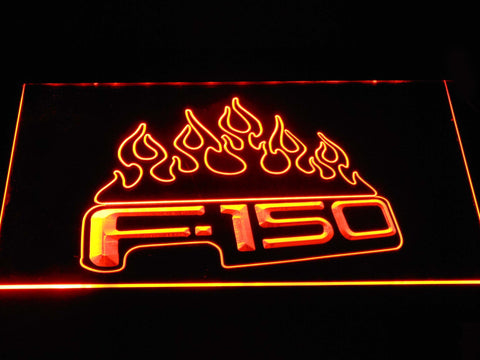 Image of Ford f150 F-150 Flames LED Neon Sign - Orange - SafeSpecial