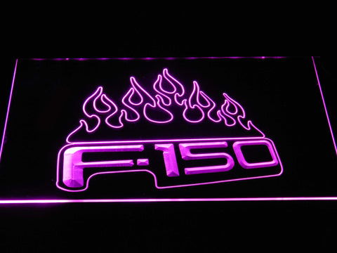 Image of Ford f150 F-150 Flames LED Neon Sign - Purple - SafeSpecial