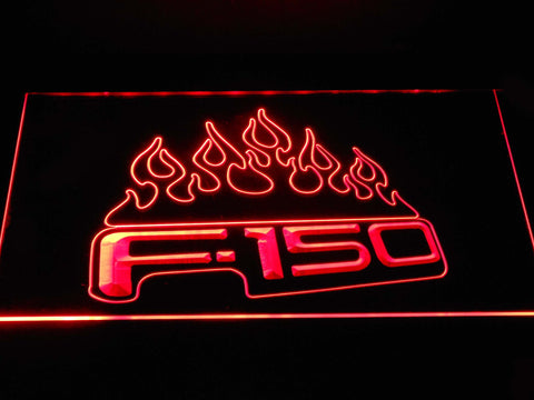 Image of Ford f150 F-150 Flames LED Neon Sign - Red - SafeSpecial
