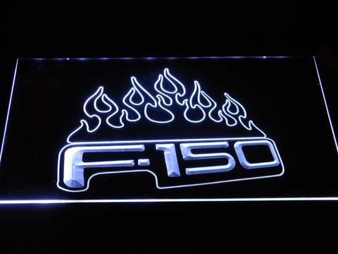 Image of Ford f150 F-150 Flames LED Neon Sign - White - SafeSpecial