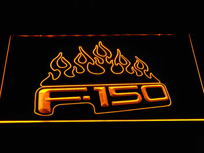 Ford f150 F-150 Flames LED Neon Sign - Yellow - SafeSpecial