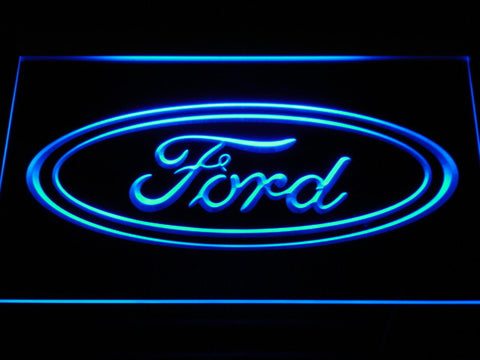 Image of Ford LED Neon Sign - Blue - SafeSpecial