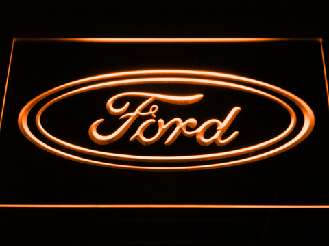 Image of Ford LED Neon Sign - Orange - SafeSpecial