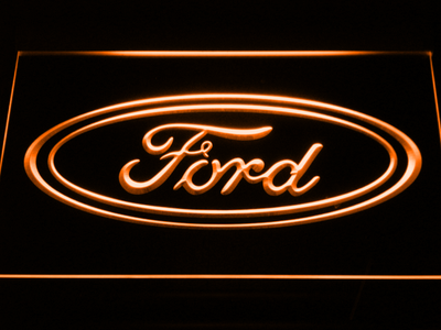 Ford LED Neon Sign - Orange - SafeSpecial