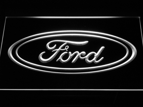 Image of Ford LED Neon Sign - White - SafeSpecial
