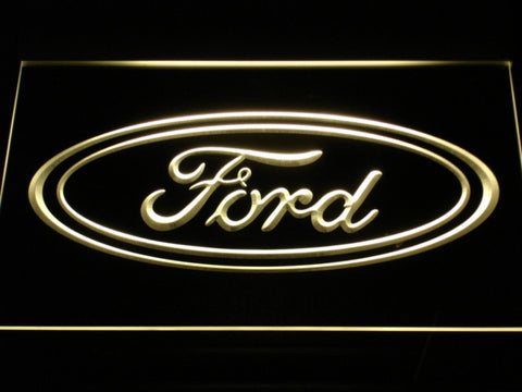 Image of Ford LED Neon Sign - Yellow - SafeSpecial