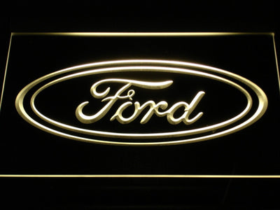 Ford LED Neon Sign - Yellow - SafeSpecial