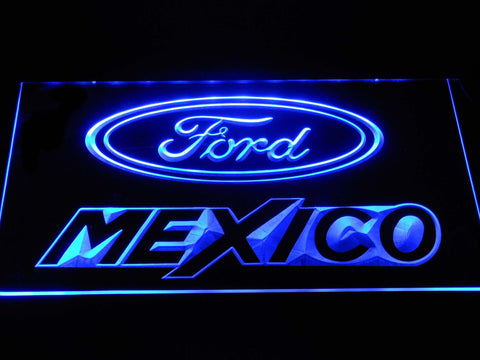 Image of Ford Mexico LED Neon Sign - Blue - SafeSpecial