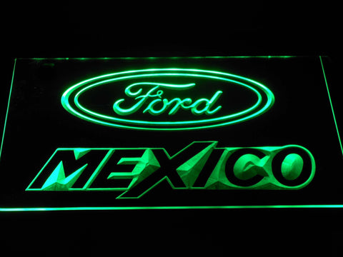 Image of Ford Mexico LED Neon Sign - Green - SafeSpecial