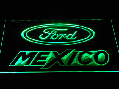 Ford Mexico LED Neon Sign - Green - SafeSpecial