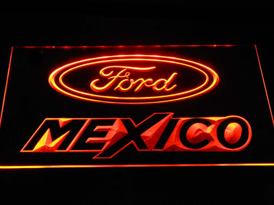 Ford Mexico LED Neon Sign - Orange - SafeSpecial