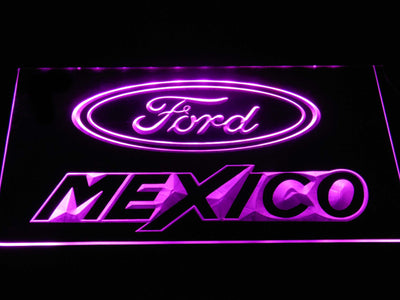 Ford Mexico LED Neon Sign - Purple - SafeSpecial