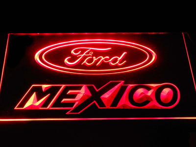 Ford Mexico LED Neon Sign - Red - SafeSpecial