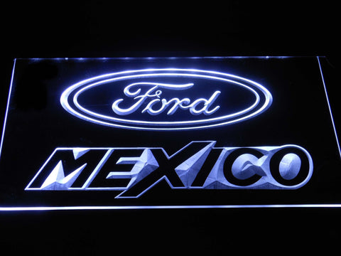 Image of Ford Mexico LED Neon Sign - White - SafeSpecial